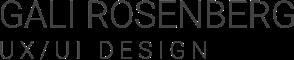 GALI ROSENBERG | UX/UI DESIGN